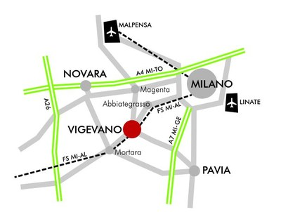 How to get to Vigevano